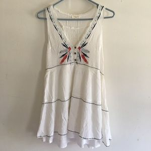 Tea n Cup White Embroidered Dress